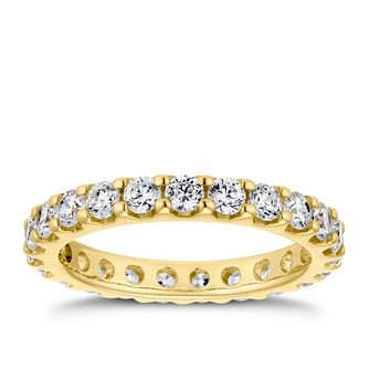 18ct Yellow Gold 1.5ct Diamond Eternity Ring - Product number 4220307