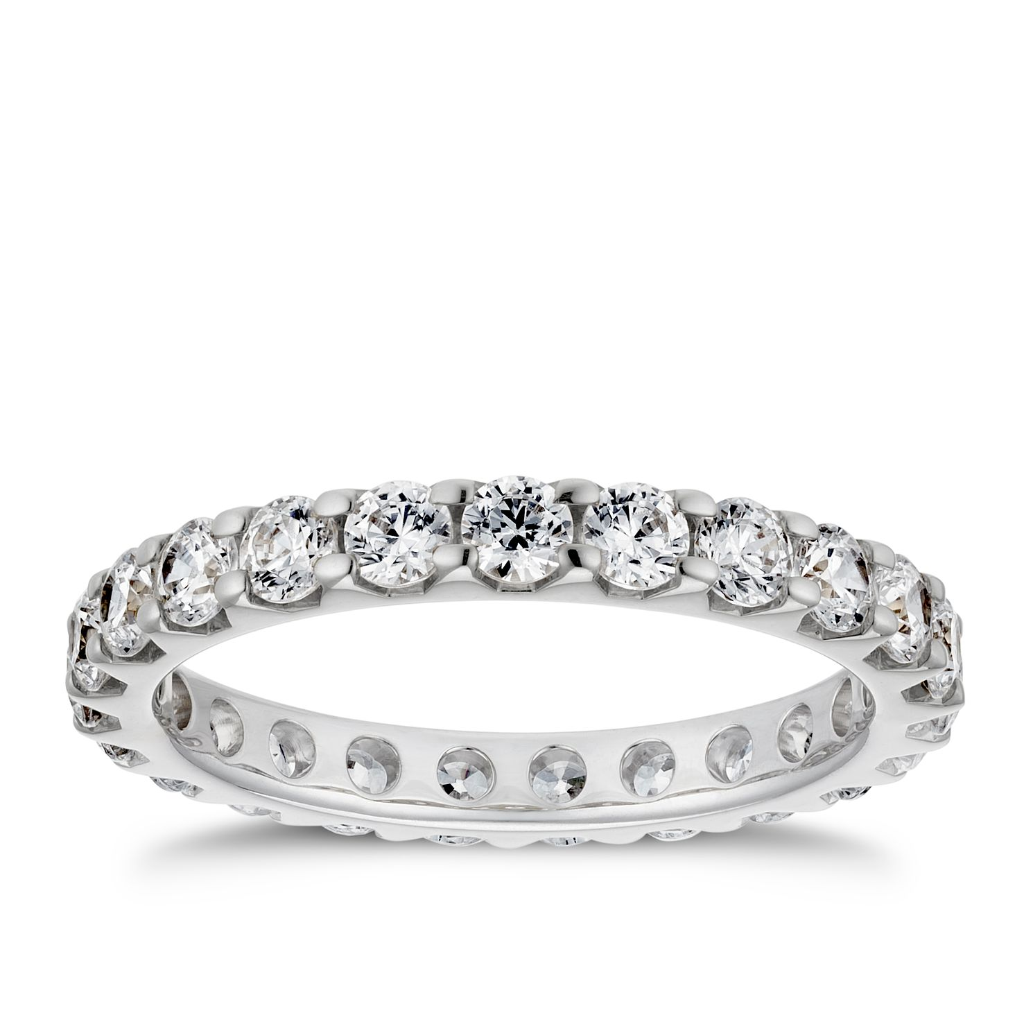 Platinum 1.25ct Diamond Eternity Ring - Product number 4220528
