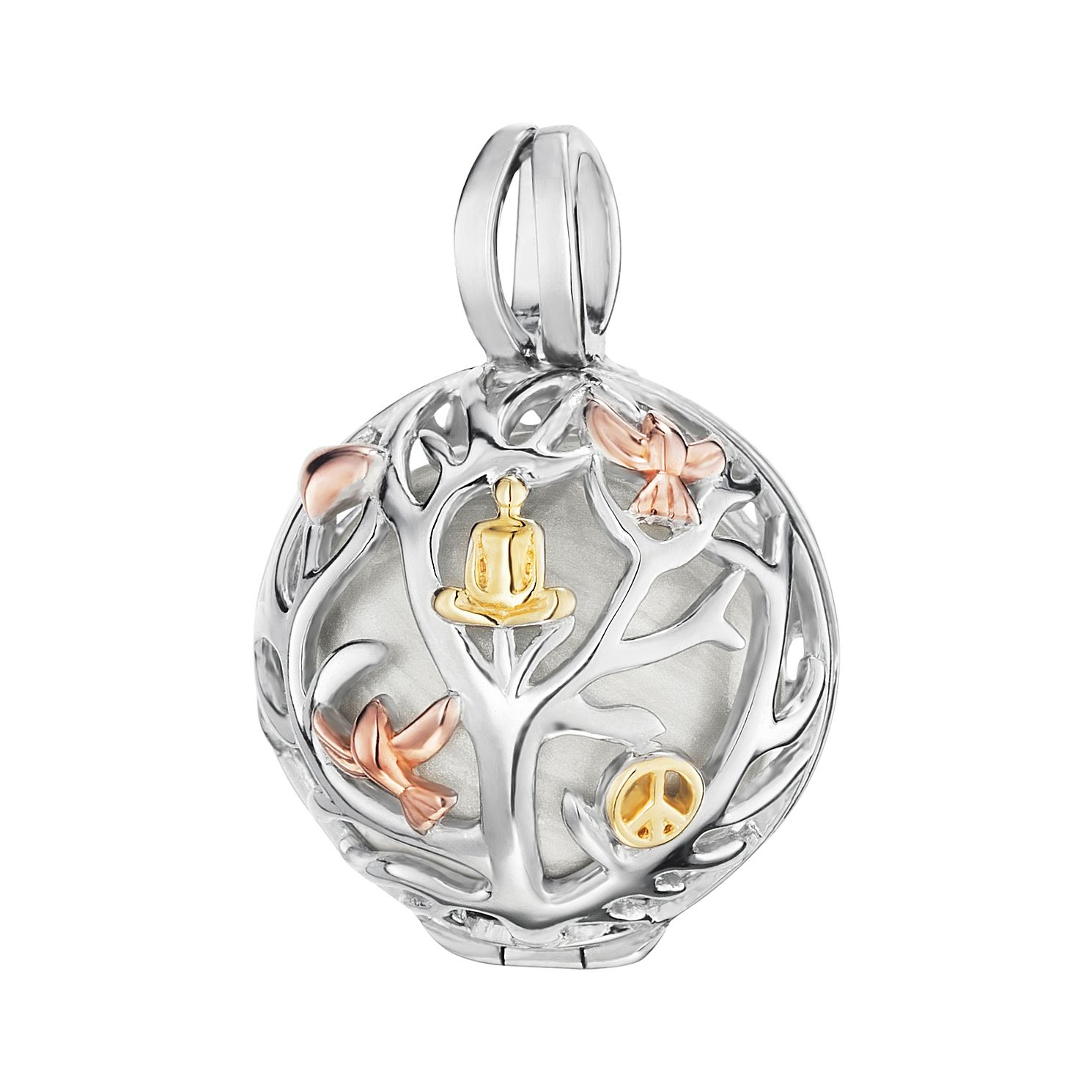 Angel Whisperer Tree of Life Silver Pearl Chime Pendant - Product number 4220676