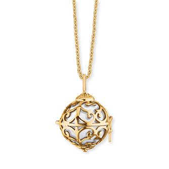 Angel Whisperer Extra Small Yellow Gold White Chime Necklace - Product number 4220714