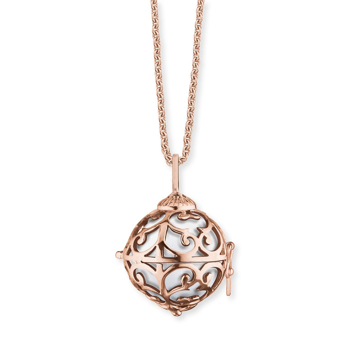 Angel Whisperer Extra Small Rose Gold White Chime Necklace - Product number 4220722