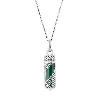 Angel Whisperer Malachite Stone Sterling Silver Necklace - Product number 4220757