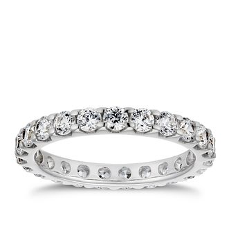 18ct White Gold 1.25ct Diamond Eternity Ring - Product number 4221168
