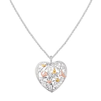 Angel Whisperer Tree of Life Silver Heart Pendant Necklace - Product number 4221206