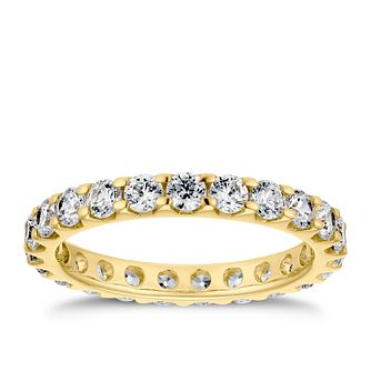 18ct Yellow Gold 1.25ct Diamond Eternity Ring - Product number 4221338