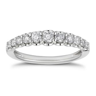 Platinum 1/2ct Diamond Gradient Eternity Ring - Product number 4222083