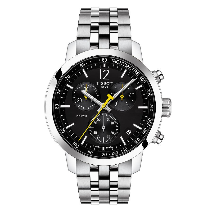 Tissot PRC 200 Chronograph Stainless Steel Bracelet Watch - Product number 4225716