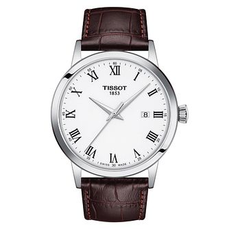 Tissot Classic Dream Men's Brown Leather Strap Watch - Product number 4226003