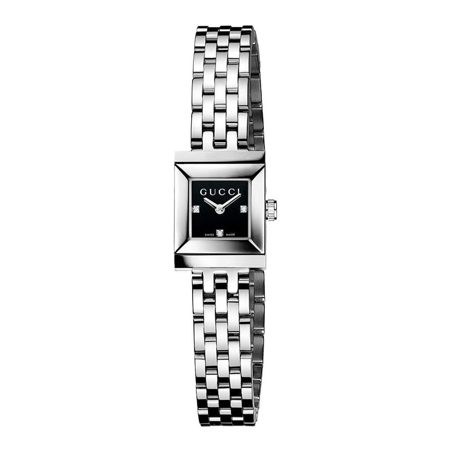 Gucci G-Frame Black Diamond Stainless Steel Bracelet Watch - Product number 4226615