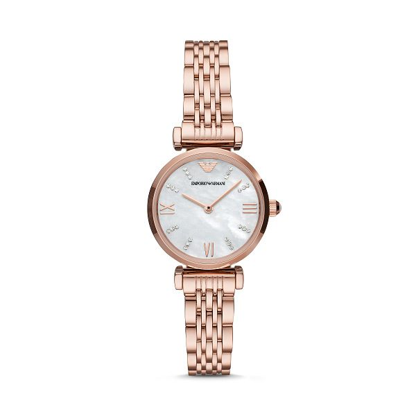 Emporio Armani Ladies' Rose Gold Tone Bracelet Watch - Product number 4226976