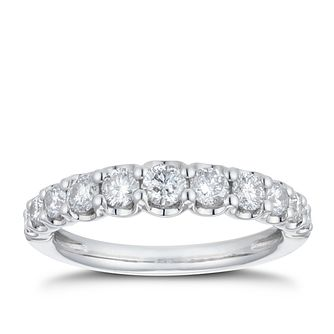 Platinum 3/4ct Diamond Gradient Eternity Ring - Product number 4227026
