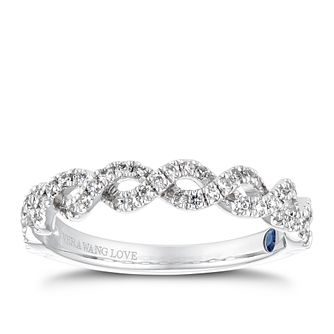 Vera Wang 18ct White Gold 0.23ct Diamond Twist Eternity Ring - Product number 4229053
