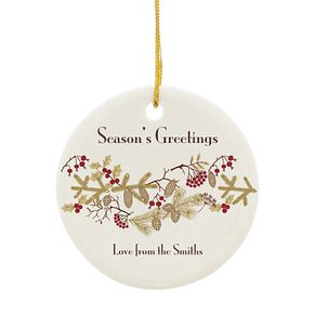 Personalised Floral Christmas Ceramic Decoration - Product number 4229851