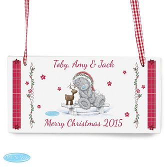 Personalised Me To You Christmas Reindeer Sign Ornament - Product number 4229924