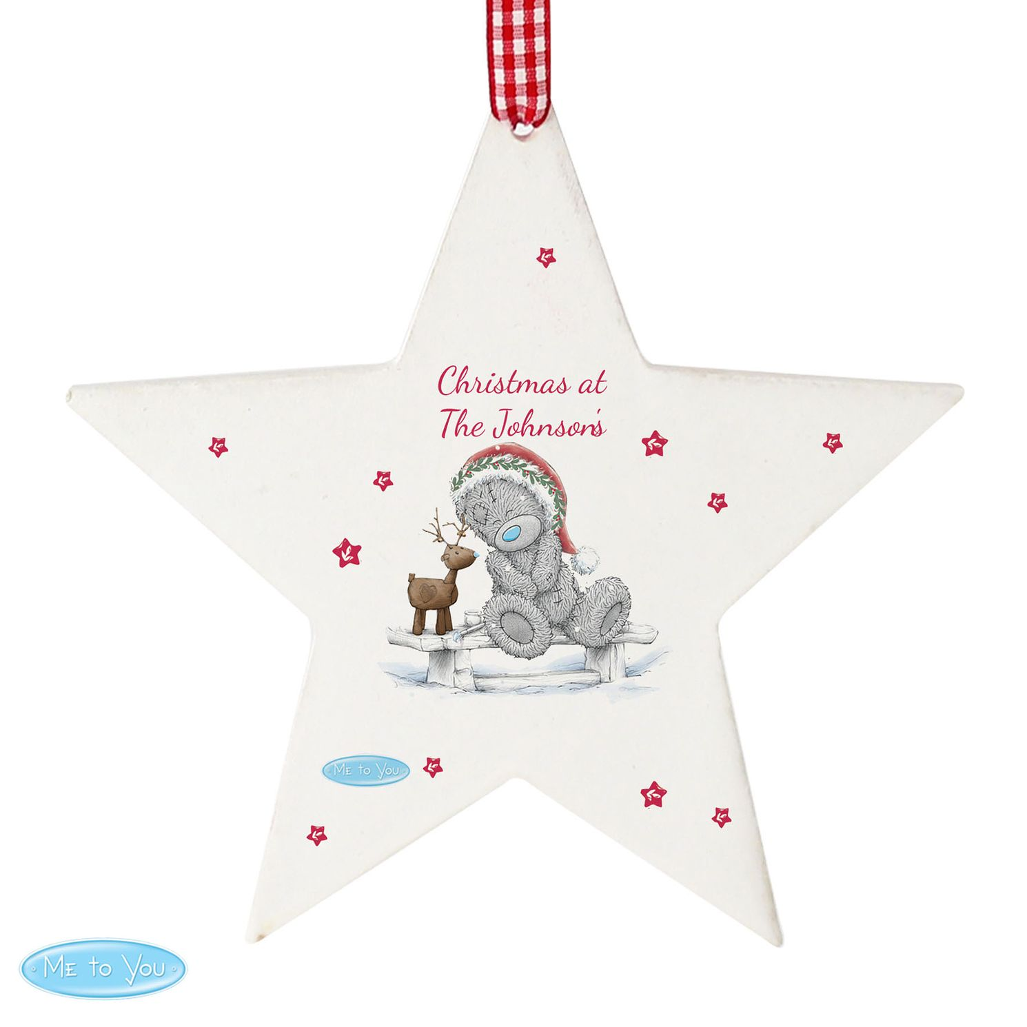 Personalised Me To You Reindeer Star Christmas Ornament - Product number 4229940