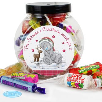 Personalised Me To You Christmas Reindeer Sweet Jar - Product number 4229959