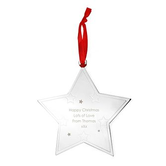 Engraved Any Message Star Tree Decoration - Product number 4230213