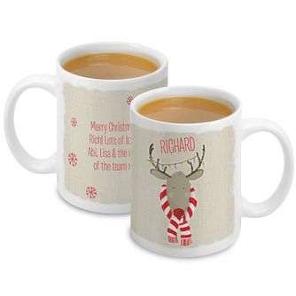Personalised Retro Reindeer Mug - Product number 4230256