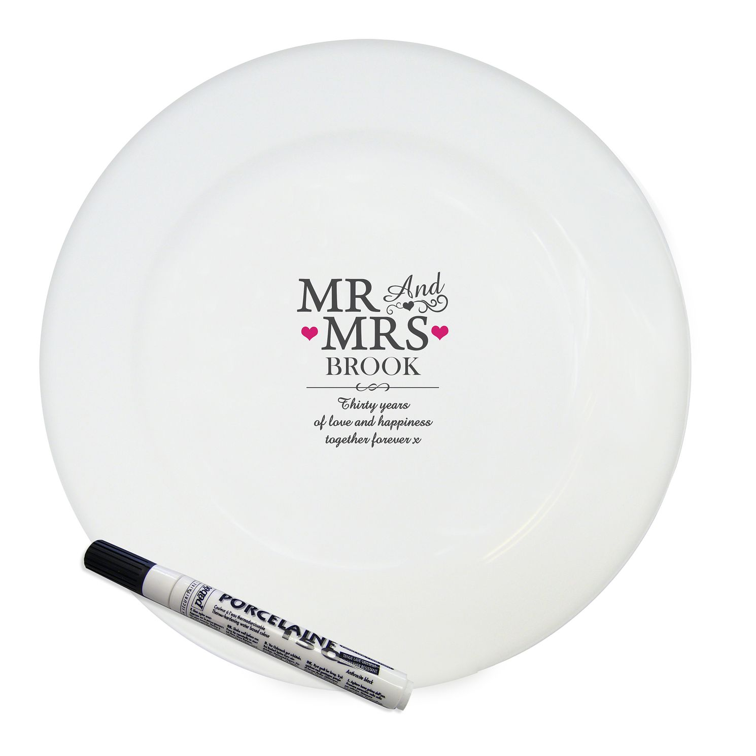 Personalised Mr & Mrs Message Plate - Product number 4232321