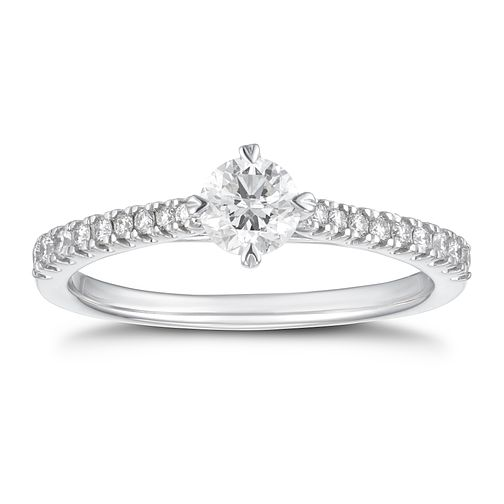18ct White Gold 1/2ct Diamond Ring - Product number 4233255