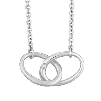 Silver Rhodium Diamond Set Joy Necklet - Product number 4233697