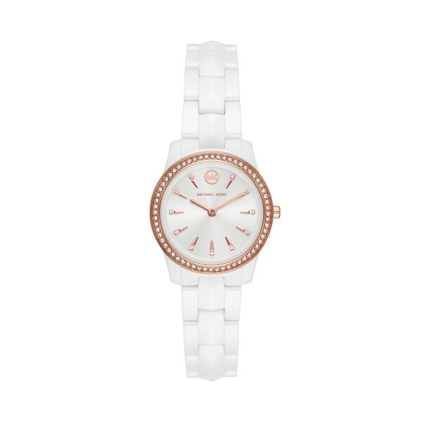 Michael Kors Runway Mercer White Ceramic Bracelet Watch - Product number 4234537