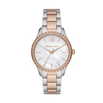 Michael Kors Layton Ladies' Two Tone Bracelet Watch - Product number 4234634