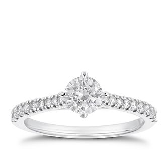 18ct White Gold 2/3ct Diamond Ring - Product number 4234677