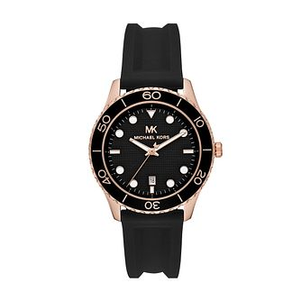 Michael Kors Runway Ladies' Black Silicone Strap Watch - Product number 4234693