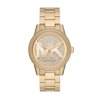 Michael Kors Oversized Ritz Ladies' Gold Tone Bracelet Watch - Product number 4234723