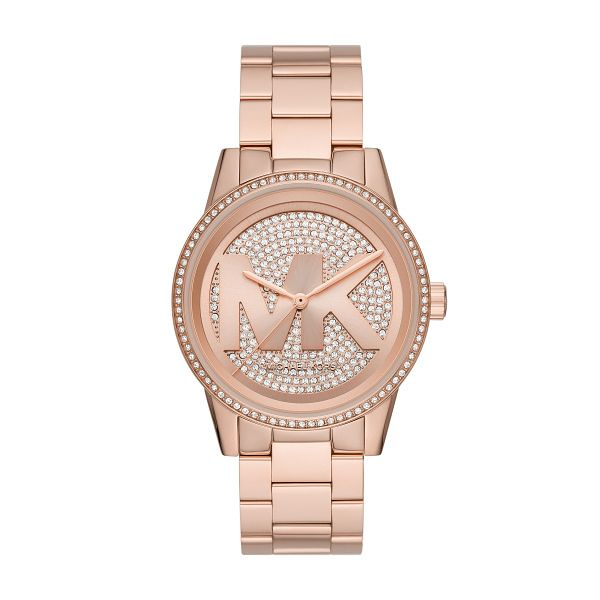 Michael Kors Ritz Crystal Rose Gold Tone Bracelet Watch - Product number 4234758