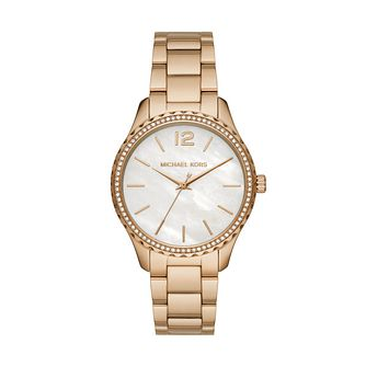 Michael Kors Layton Ladies' Yellow Gold Tone Bracelet Watch - Product number 4234774