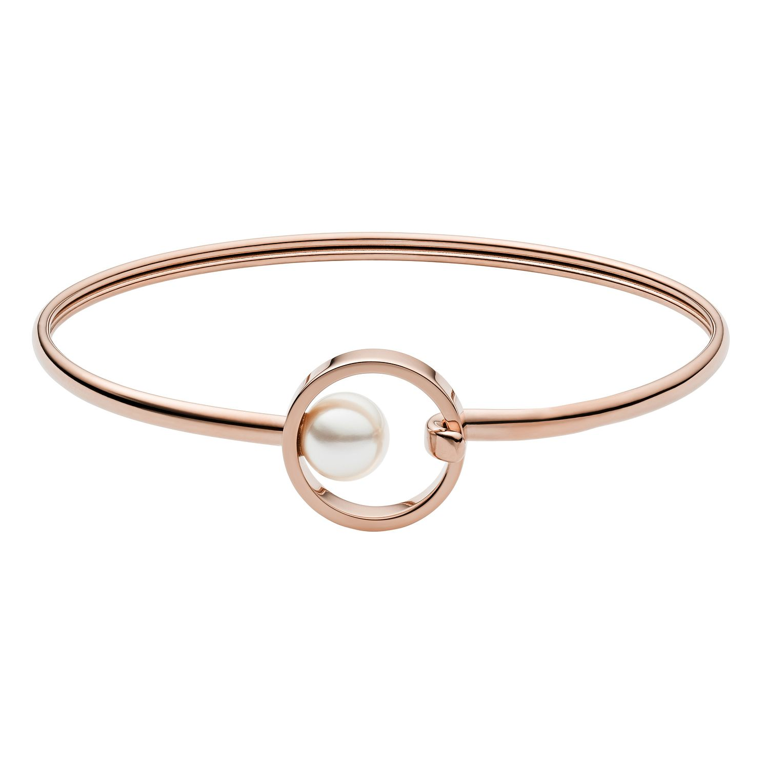 Skagen Agnethe Ladies' Rose Gold Tone Pearl Bracelet - Product number 4235835
