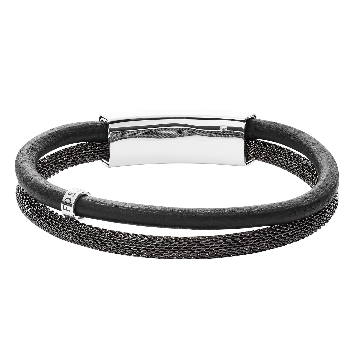 Fossil Vintage Men's Leather Black Bracelet - Product number 4236785