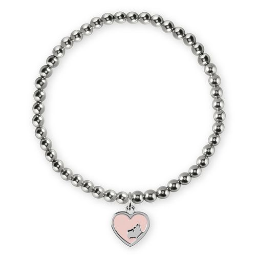 Radley Rhodium Plated Heart Charm Beaded Bracelet - Product number 4237358