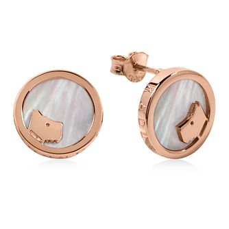 Radley 18ct Rose Gold Plated Mother Of Pearl Stud Earrings - Product number 4237366
