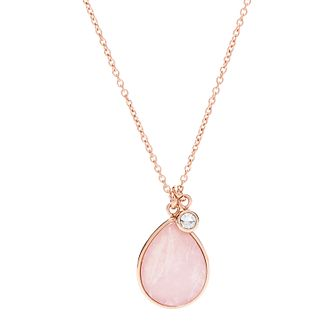 Fossil Vintage Icon Ladies' Rose Gold Tone Quartz Necklace - Product number 4237692
