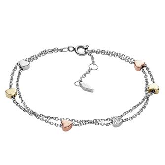 Fossil Ladies' Three Colour Vintage Stone Set Bracelet - Product number 4237943