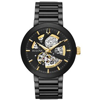 Bulova Men's Modern Automatic Black Stainless Steel Watch - Product number 4239318