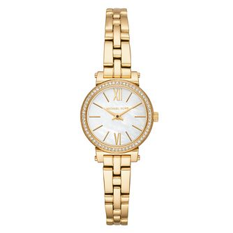 Michael Kors Sofie Ladies' Yellow Gold Tone Bracelet Watch - Product number 4239334