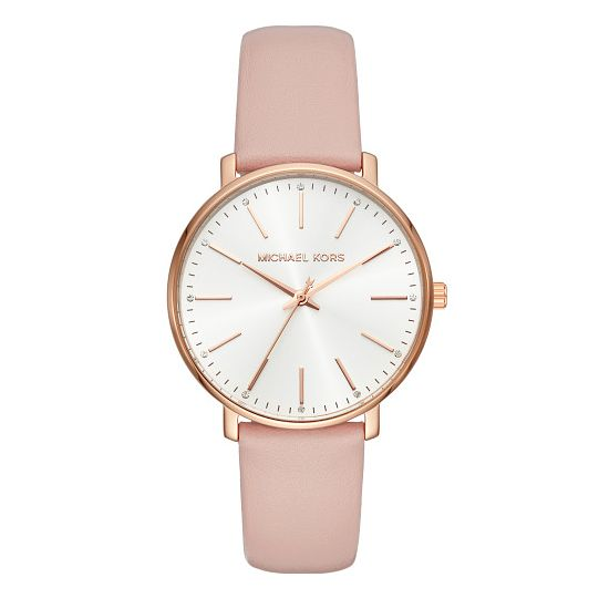 Michael Kors Pyper Ladies' Rose Gold Tone Pink Strap Watch - Product number 4239911