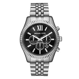 Michael Kors Lexington Men's Black Dial Bracelet Watch - Product number 4240235