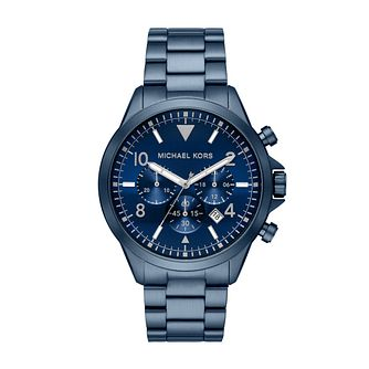 Michael Kors Gage Chronograph Blue IP Bracelet Watch - Product number 4240332