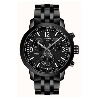 Tissot PRC 200 Chronograph Black IP Bracelet Watch - Product number 4240340