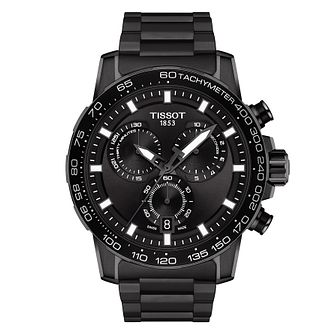 Tissot SuperSport Chrono Black IP Bracelet Watch - Product number 4240367