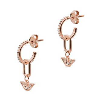 Emporio Armani Rose Gold Tone Hoop Earrings - Product number 4240626