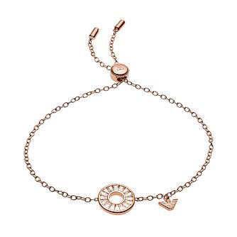 Emporio Armani Ladies' Rose Gold Tone Crystal Bracelet - Product number 4240669