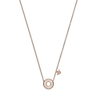 Emporio Armani Ladies' Rose Gold Tone Crystal Necklace - Product number 4240758