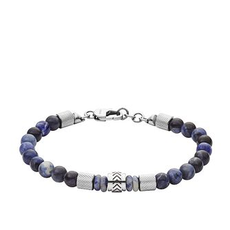 Fossil Heritage Men's Sodalite Beaded Bracelet - Product number 4240855