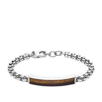 Fossil Dive Men's Tiger's Eye Chain Bracelet - Product number 4240863